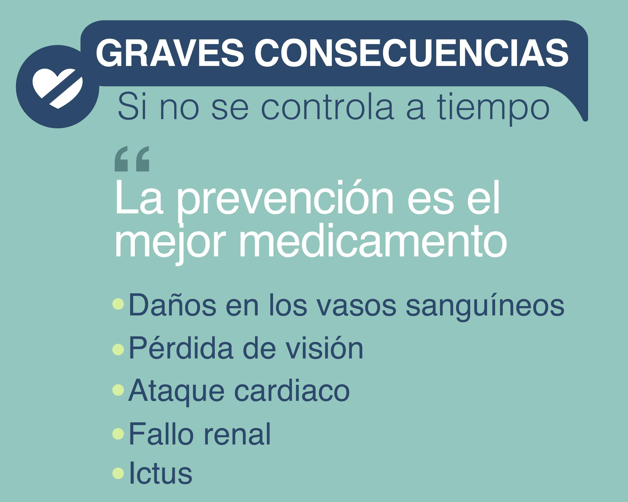 graves consecuencias. prevención de hipertensión